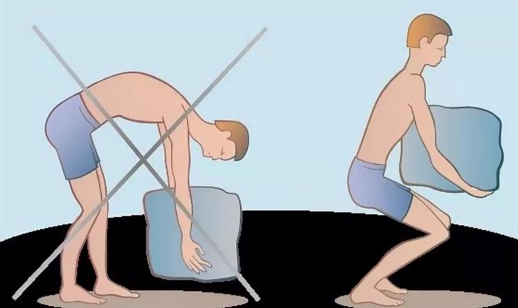 Как поднимать тяжести при остеохондрозе правильно