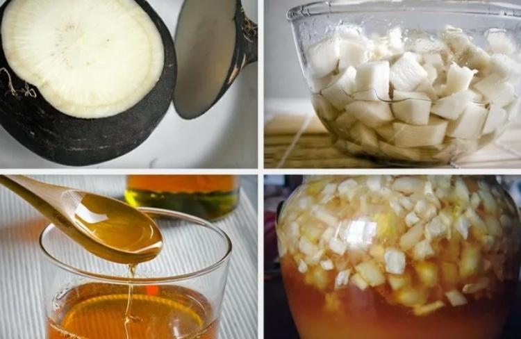 Растирание медом с натертой редькой и солью