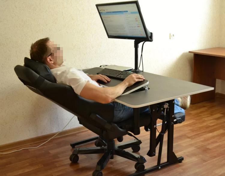 Правильно распределенная нагрузка в положении сидя.