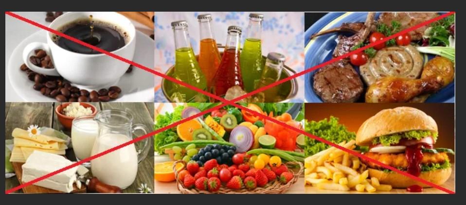 Продукты, которые нельзя употреблять в пищу.