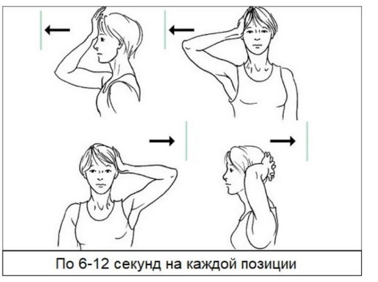 Комплекс упражнений при остеохондрозе - укрепление мышц шеи.