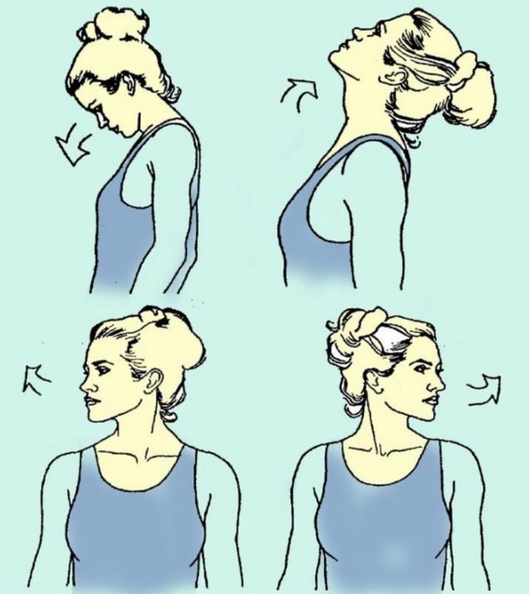 Упражнения при хронических болях в шейном отделе позвоночника.