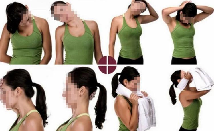 Вращение головой для укрепления верхней части спины.