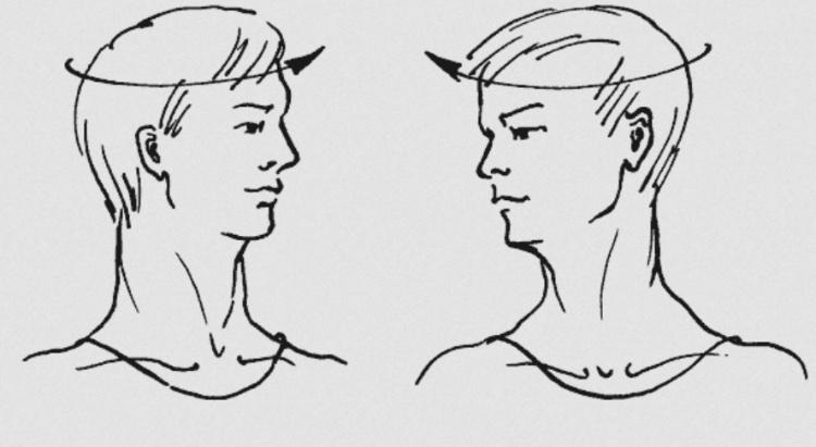 Повороты шеей и головой