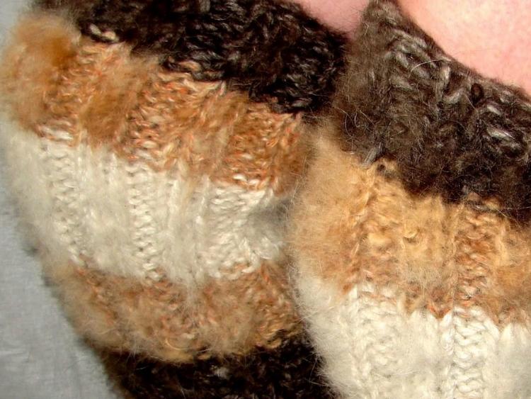Наколенники из собачьей шерсти