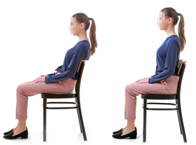 Правильная посадка на стуле