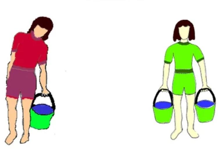 Как правильно переносить груз в одной руке